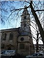 TQ3081 : St Clement Danes - Tower and spire by Rob Farrow