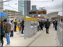 SJ8499 : Reopened Metrolink Platform at Victoria Station (February 2015) by David Dixon
