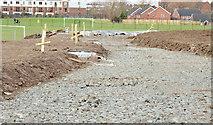 J3673 : New path, Dixon Park, Belfast - February 2015(1) by Albert Bridge
