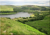 SK0697 : Longdendale Trail and Torside Reservoir by Derek Harper