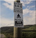 SK0697 : Bad news for walkers by the Pennine Way by Derek Harper