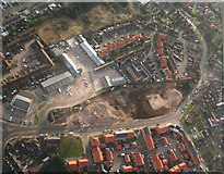 TF3387 : Louth's Maltings consigned to history at last: aerial 2015 by Chris
