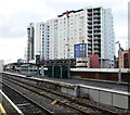 ST1876 : Recently-opened platform 5 at Cardiff Queen Street station by Jaggery
