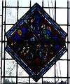 TQ3181 : Temple Church - Old glass diamond pane (2) by Rob Farrow
