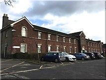 SJ8545 : Royal Stoke University Hospital: Old Admissions Block by Jonathan Hutchins