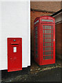 TM4249 : GR postbox and ER K6 telephone box by Adrian S Pye