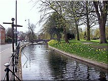 TF0920 : The riverside in South Street, Bourne, Lincolnshire by Rex Needle