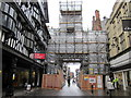 SJ4066 : Eastgate and Eastgate Clock Restoration, Chester by Jeff Buck