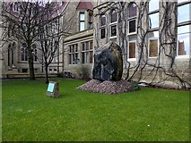 SJ8496 : Andesite Boulder outside Manchester Museum by David Dixon