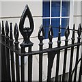 SU4111 : Stylish points to iron railings, Portland Terrace, Southampton by Robin Stott