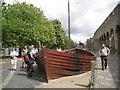 SU4111 : Replica of a medieval cargo vessel, Western Esplanade, Southampton by Robin Stott