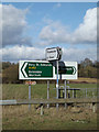 TM1177 : Roadsigns on the A143 Old Bury Road by Adrian Cable