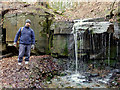 SD5306 : Waterfall in Dean Wood, Gathurst by Wendy Rogers