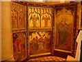 SD4491 : St Mary Crosthwaite: art work by Basher Eyre