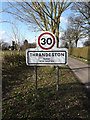 TM1176 : Thrandeston Village Name sign by Adrian Cable