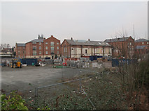 SO8554 : Building site by the canal, Mill Street, Worcester by Stephen Craven