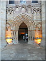 SE0754 : Doorway into the nave of Bolton Abbey church by Humphrey Bolton