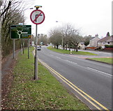 ST3091 : No right turn sign near Montgomery Road, Malpas, Newport by Jaggery