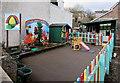 SO6713 : Colourful outdoor play area, Little Acorns Nursery, Littledean by Jaggery