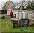 SO6713 : Dairymen dedication in Littledean by Jaggery
