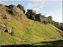 SK1482 : Peveril Castle from Cave Dale by Derek Harper