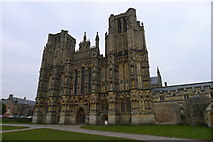 ST5545 : Wells Cathedral; the West Front by Tim Heaton