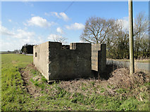TM2262 : Suffolk Square pillbox with a light anti-aircraft emplacement by Adrian S Pye