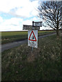 TM0678 : Roadsign on Wash Lane by Geographer