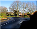 SO5239 : Tree-lined Church Road, Tupsley, Hereford by Jaggery