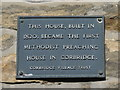 NY9864 : Plaque on The Meeting House, 27 St. Helen's Street, NE45 by Mike Quinn