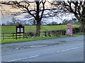 SJ8079 : Layby and Telephone Box, Knutsford Road by David Dixon