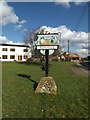 TM0477 : Redgrave Village sign by Adrian Cable