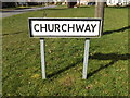 TM0477 : Churchway sign by Adrian Cable