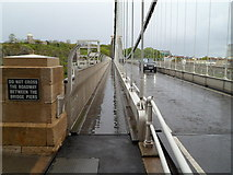 ST5673 : Do Not Cross the Roadway between the  Clifton Suspension Bridge piers by Jaggery