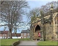 SE3694 : The porch of All Saints Church, Northallerton by Bob Embleton