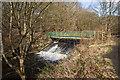 SD7311 : The footbridge over Bradshaw Brook weir by Ian Greig