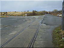 NS2975 : Old railway tracks by Thomas Nugent