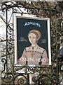 TM2460 : The Queen's Head Inn, Brandeston sign by Adrian S Pye