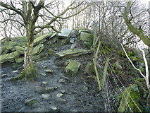 SE0722 : Spoil heap for North Dean Quarry by Humphrey Bolton