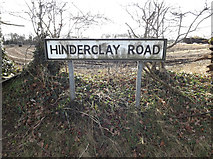 TM0478 : Hinderclay Road sign by Adrian Cable