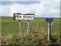 TM0378 : Fen Road sign by Adrian Cable