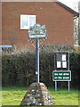TM0276 : Hinderclay Village Sign & Notice Board by Adrian Cable