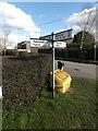TM0276 : Roadsign on Gobbett's Lane by Adrian Cable