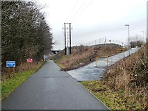 SD4964 : Temporary diversion on the Lune Valley Ramble by Christine Johnstone