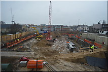TL4658 : Construction site, Newmarket Rd by N Chadwick