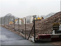 SD4964 : Building the new motorway bridge across the River Lune by Christine Johnstone