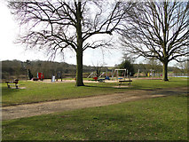 TM1542 : Children's play area in Bourne park by Adrian S Pye