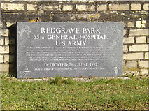TM0576 : Plaque at the entrance to Redgrave Park by Adrian Cable