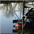 SK5335 : Narrowboat tiller by David Lally