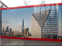TQ3179 : Building Site, Southwark Bridge Road, London SE1 by Christine Matthews